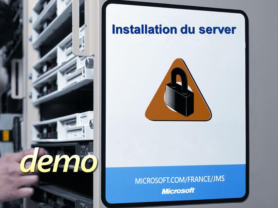 Installation du server