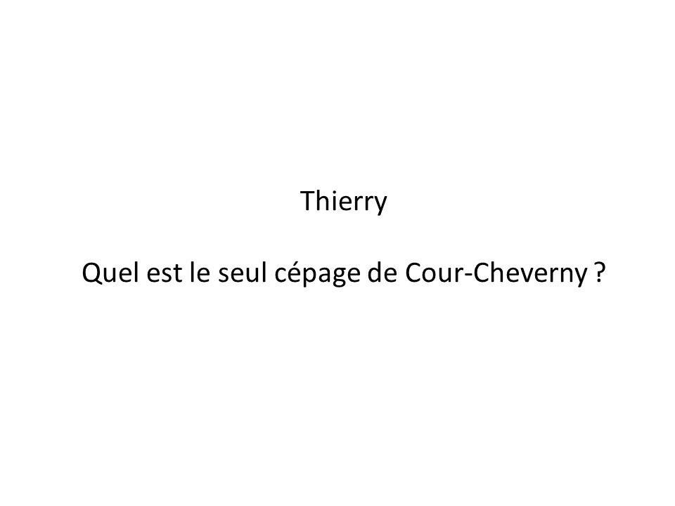 Quel est le seul cépage de Cour-Cheverny