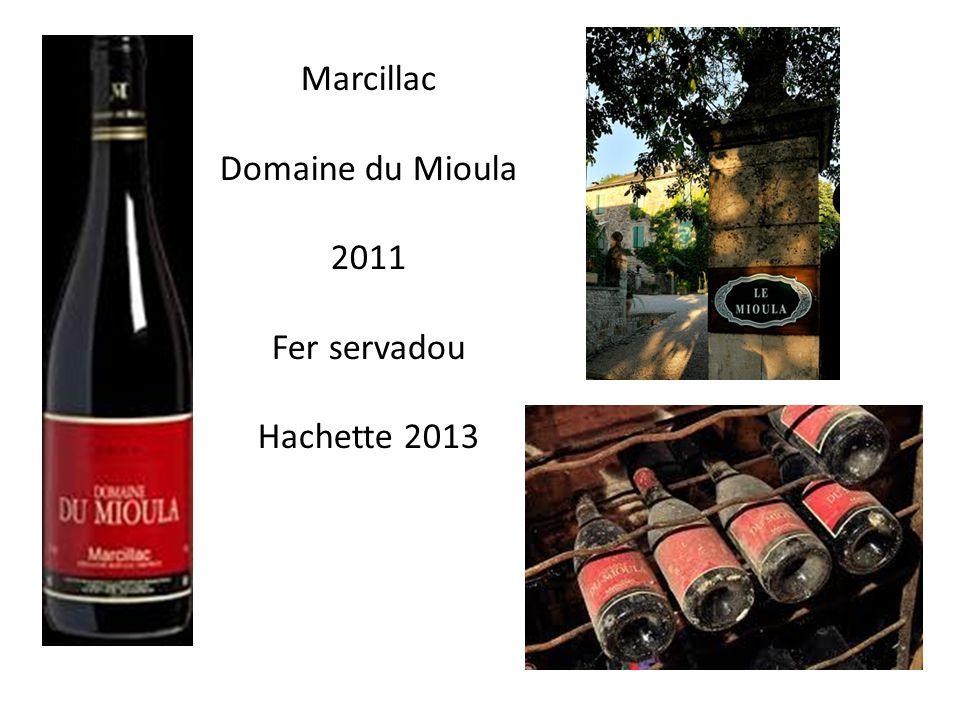 Marcillac Domaine du Mioula 2011 Fer servadou Hachette 2013