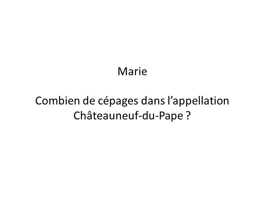 Combien de cépages dans l'appellation Châteauneuf-du-Pape