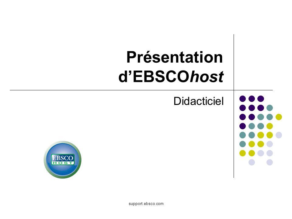 Présentation d'EBSCOhost