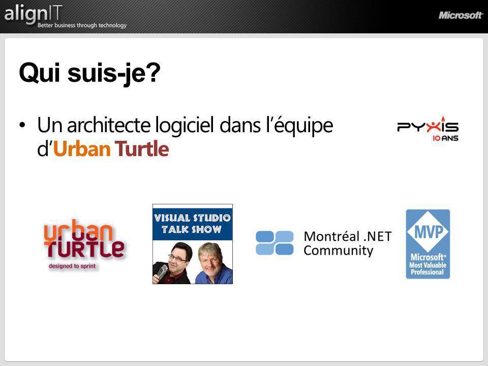 Qui suis-je Un architecte logiciel dans l'équipe d'Urban Turtle