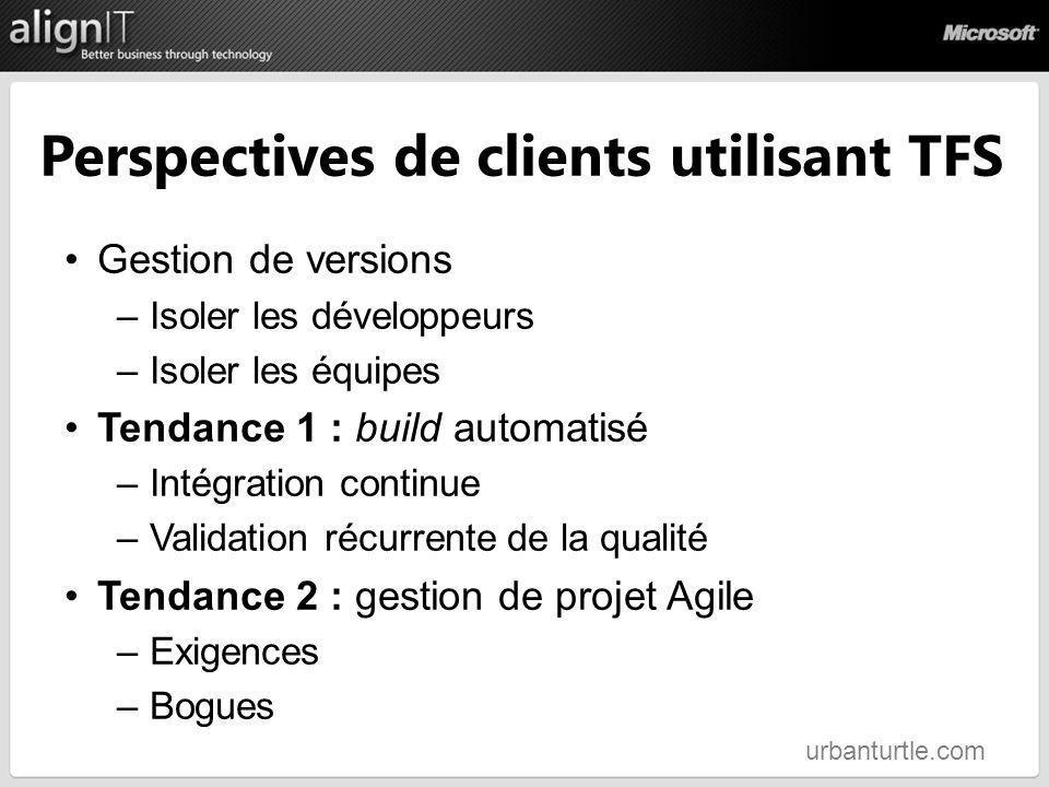 Perspectives de clients utilisant TFS
