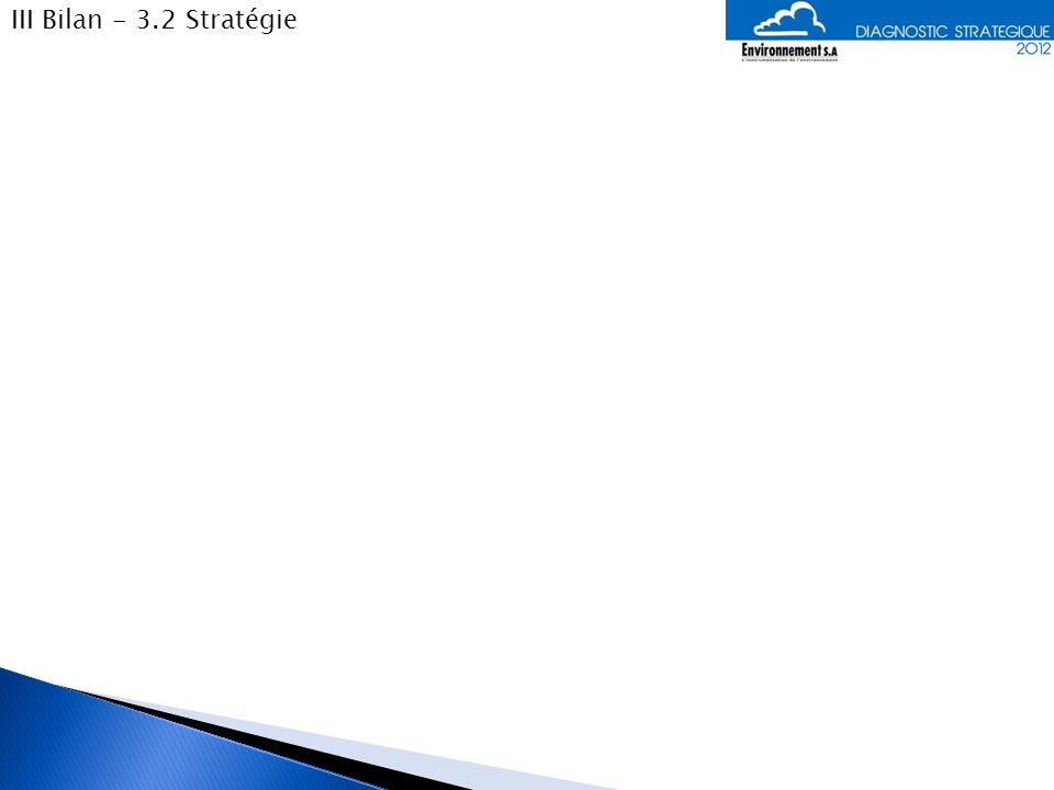 III Bilan - 3.2 Stratégie