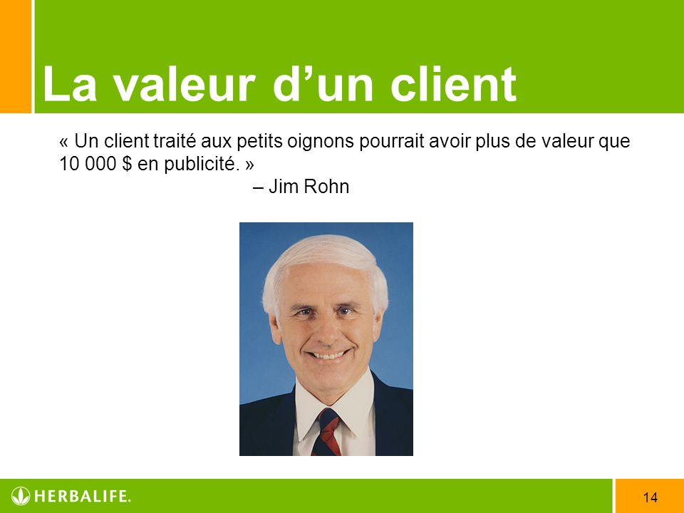 La valeur d'un client