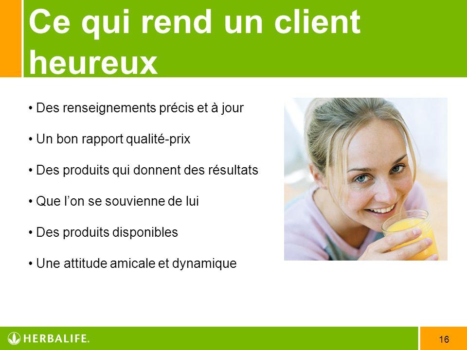 Ce qui rend un client heureux