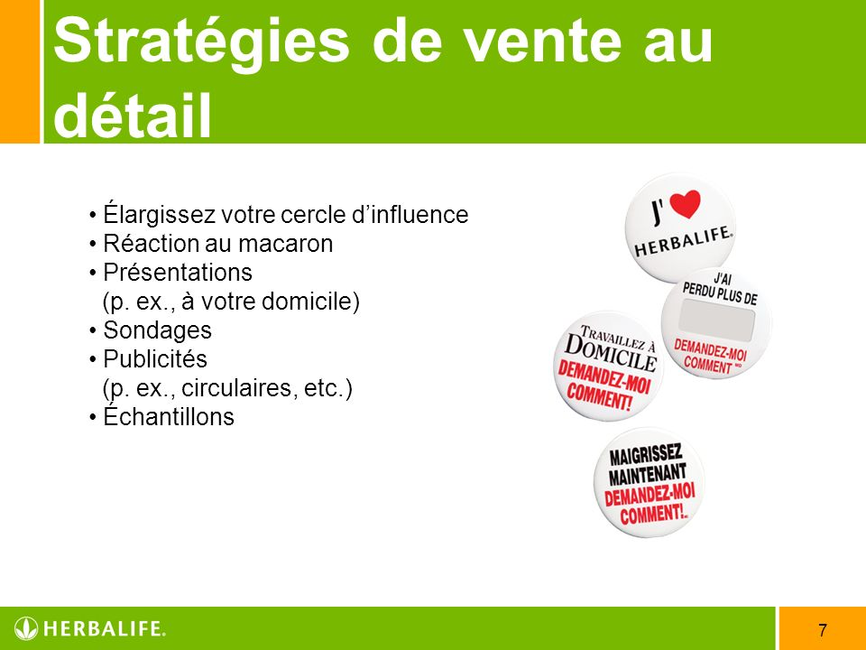 Stratégies de vente au détail