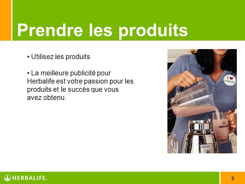Prendre les produits Utilisez les produits