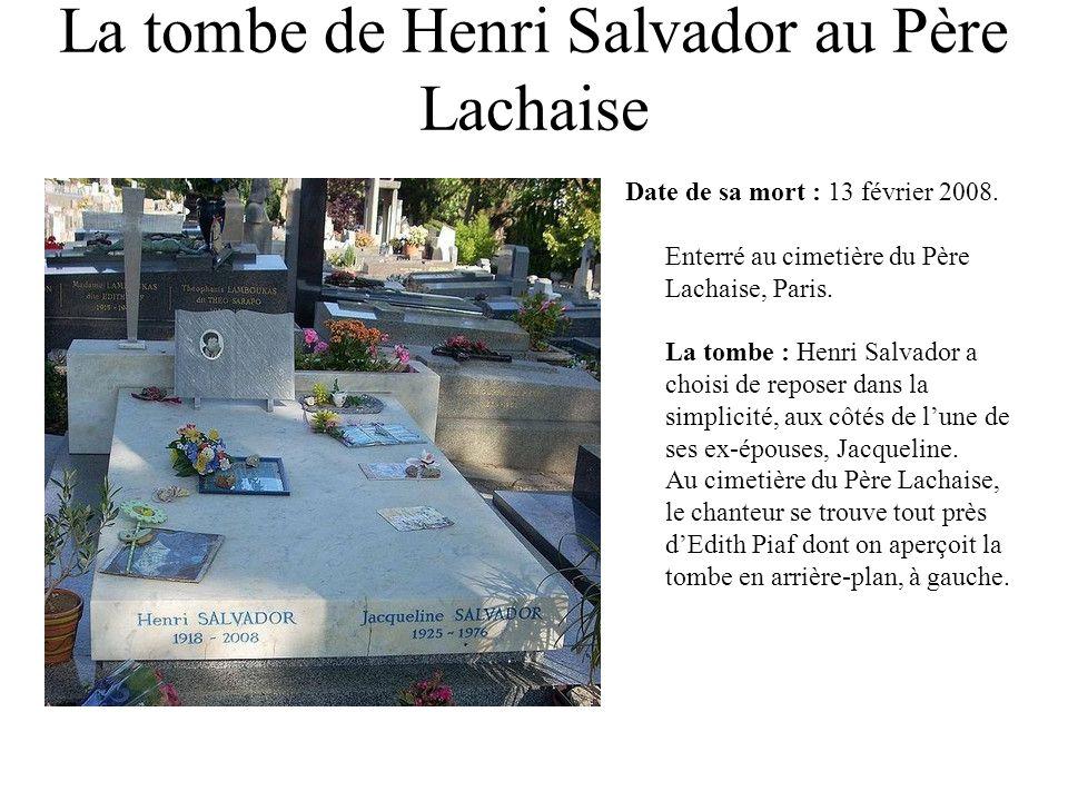 La tombe de Henri Salvador au Père Lachaise