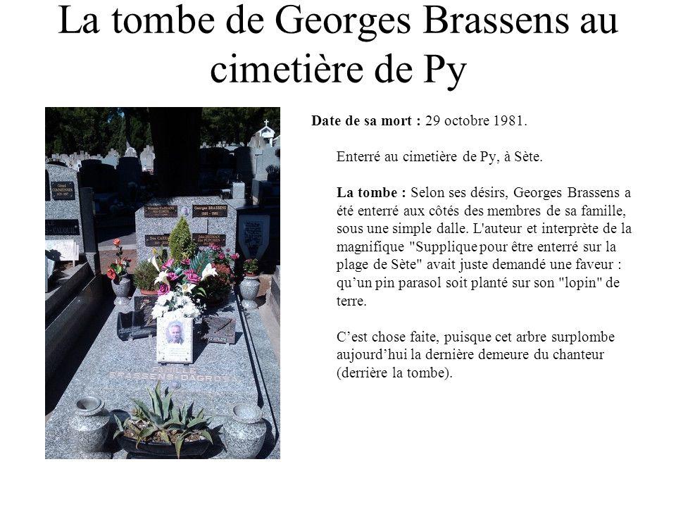 La tombe de Georges Brassens au cimetière de Py