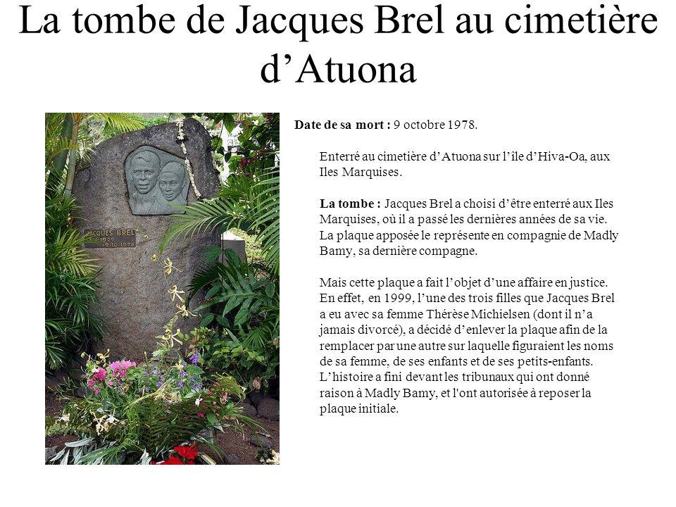 La tombe de Jacques Brel au cimetière d'Atuona