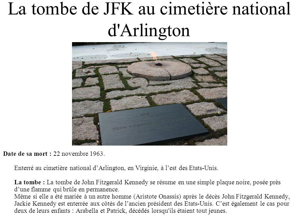 La tombe de JFK au cimetière national d Arlington