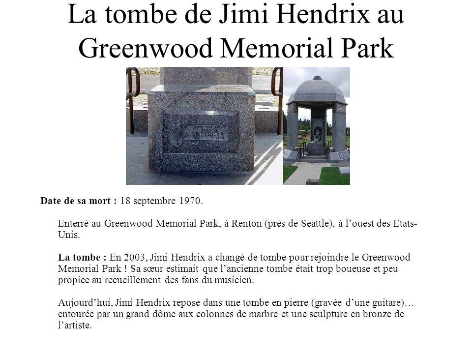 La tombe de Jimi Hendrix au Greenwood Memorial Park