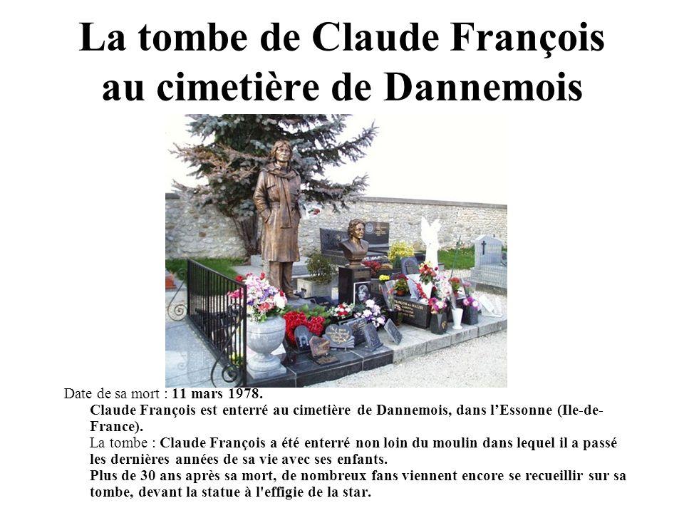 La tombe de Claude François au cimetière de Dannemois
