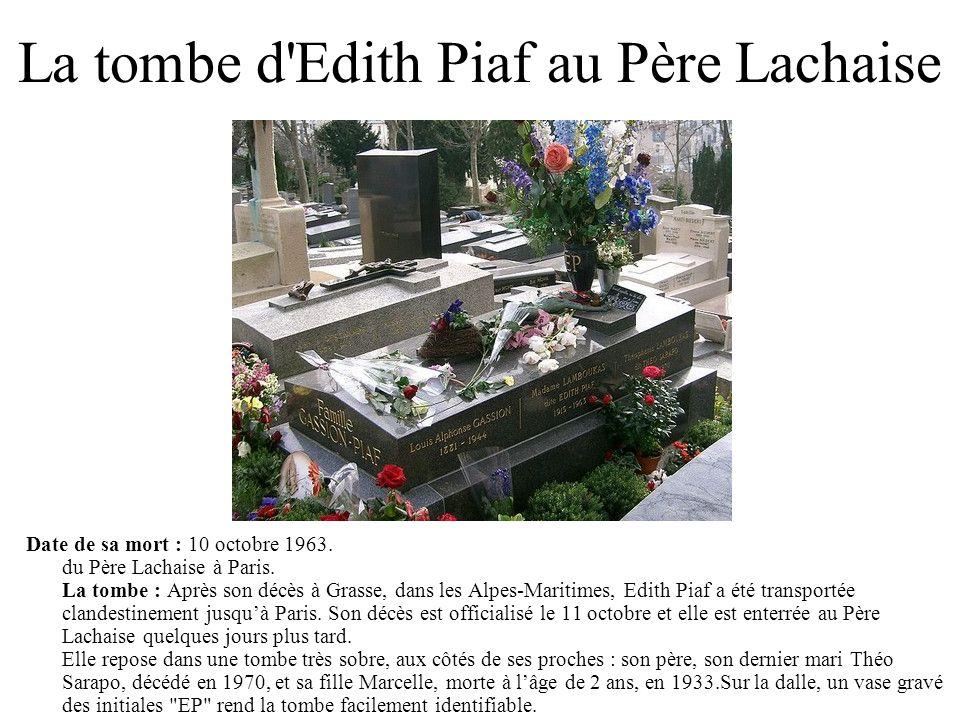 La tombe d Edith Piaf au Père Lachaise