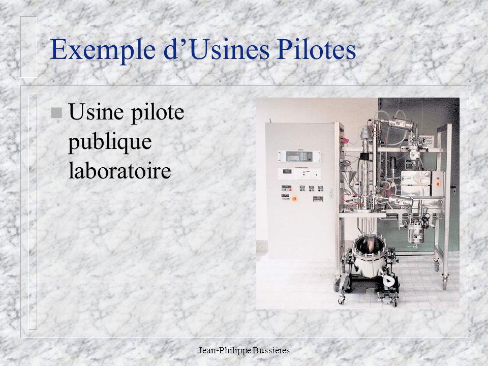 Exemple d'Usines Pilotes