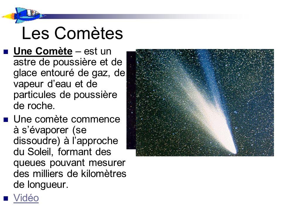 Les Comètes Une Comète – est un astre de poussière et de glace entouré de gaz, de vapeur d'eau et de particules de poussière de roche.