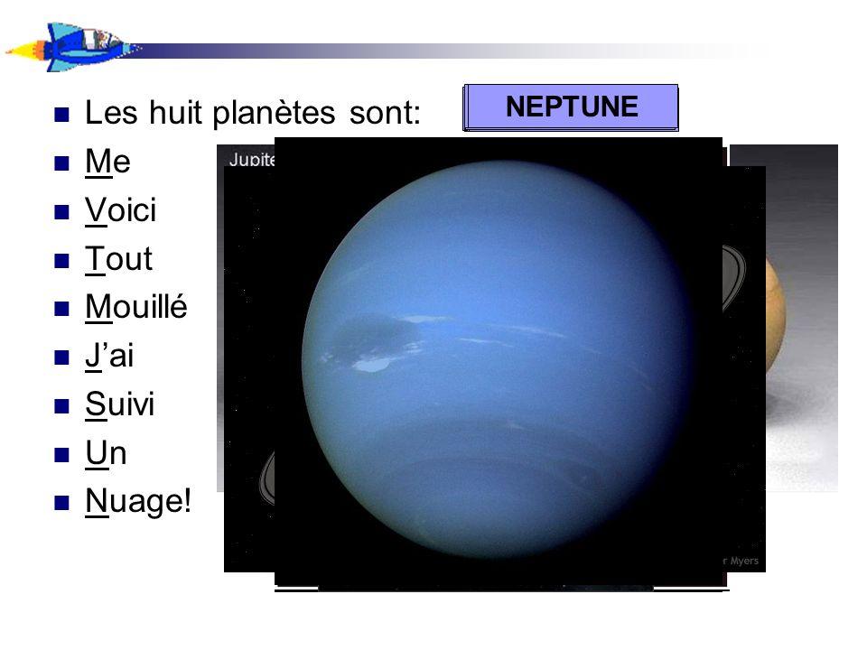 Les huit planètes sont: Me Voici Tout Mouillé J'ai Suivi Un Nuage!