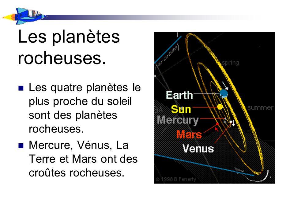 Les planètes rocheuses.