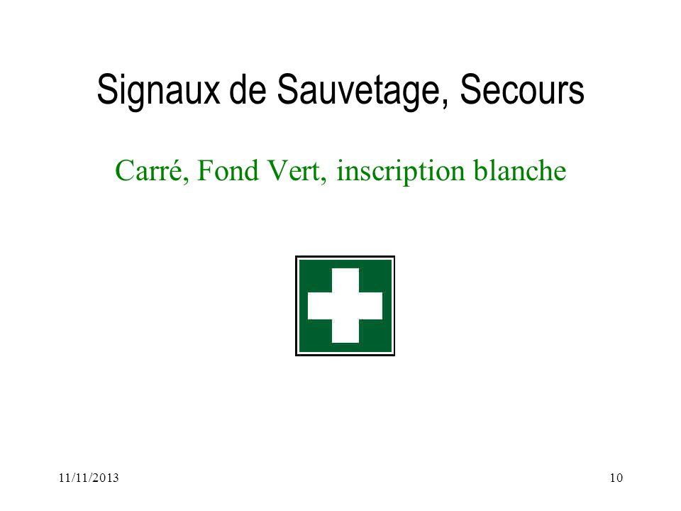 Signaux de Sauvetage, Secours