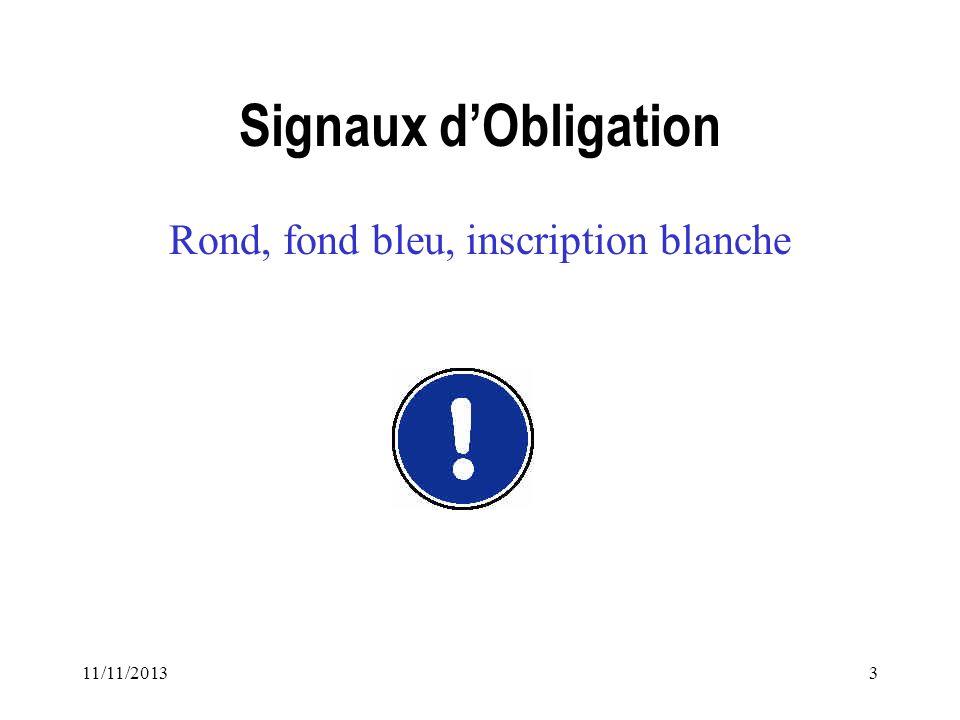 Rond, fond bleu, inscription blanche