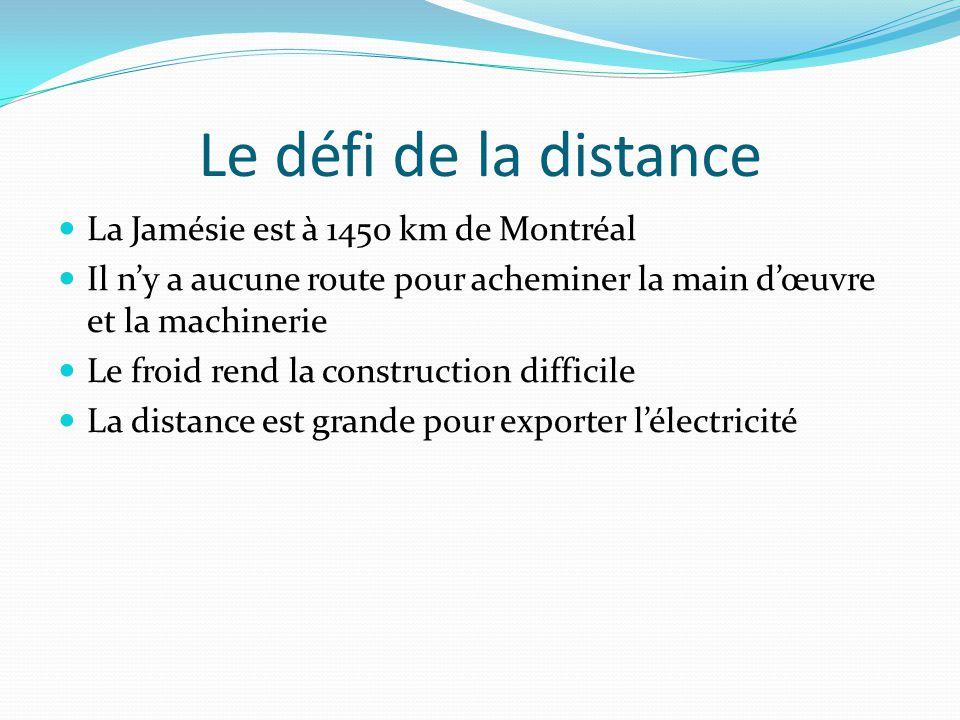Le défi de la distance La Jamésie est à 1450 km de Montréal