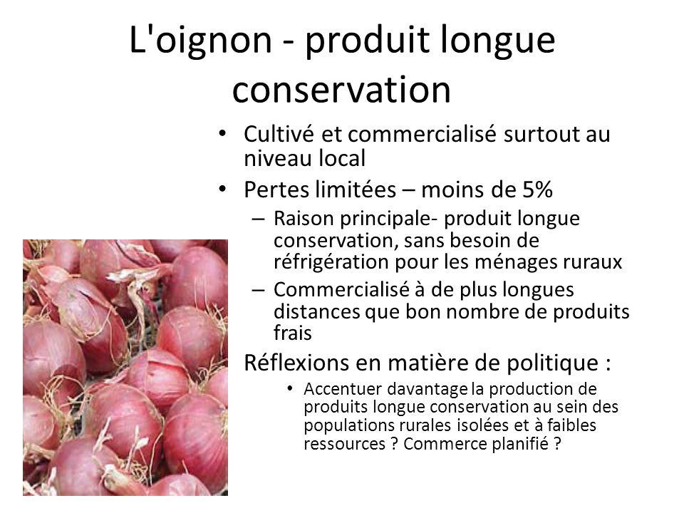 L oignon - produit longue conservation