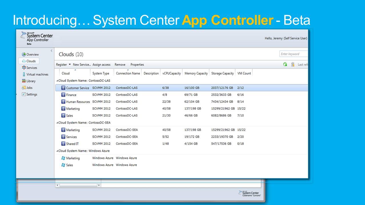 Introducing… System Center App Controller - Beta