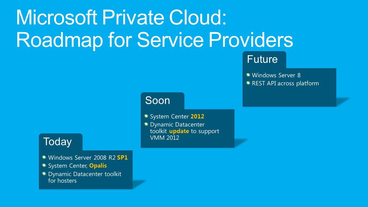 Microsoft Private Cloud: Roadmap for Service Providers