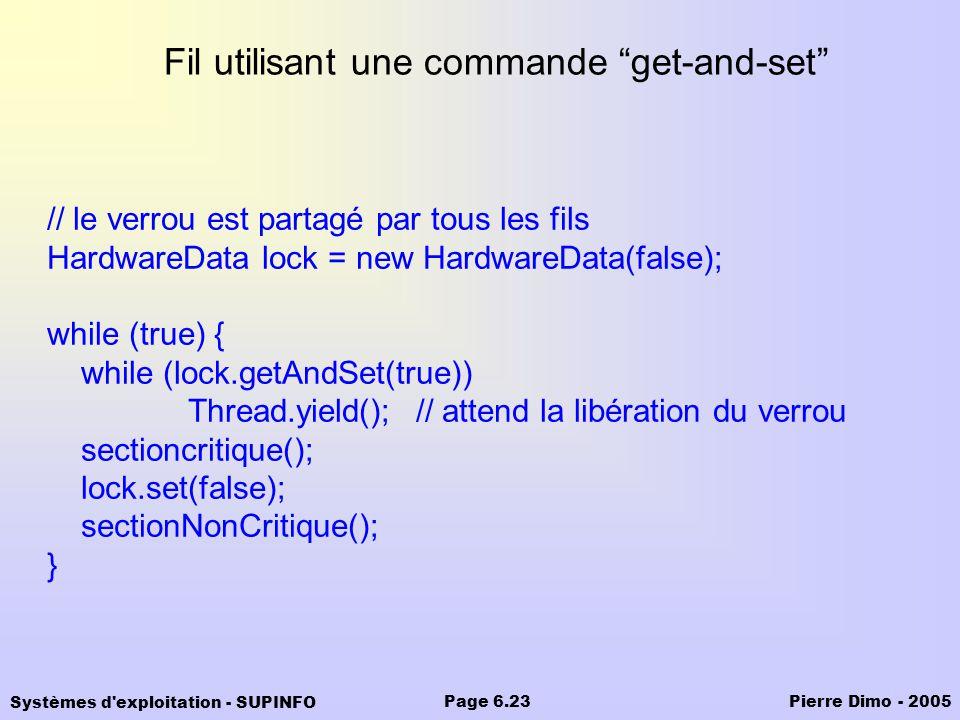 Fil utilisant une commande get-and-set