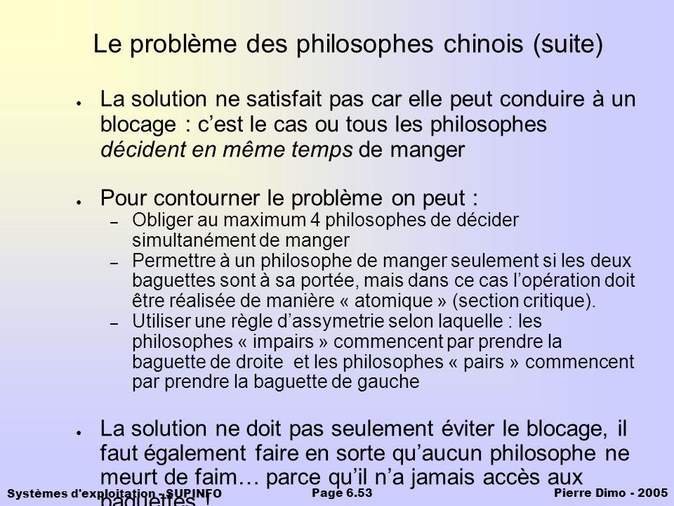 Le problème des philosophes chinois (suite)