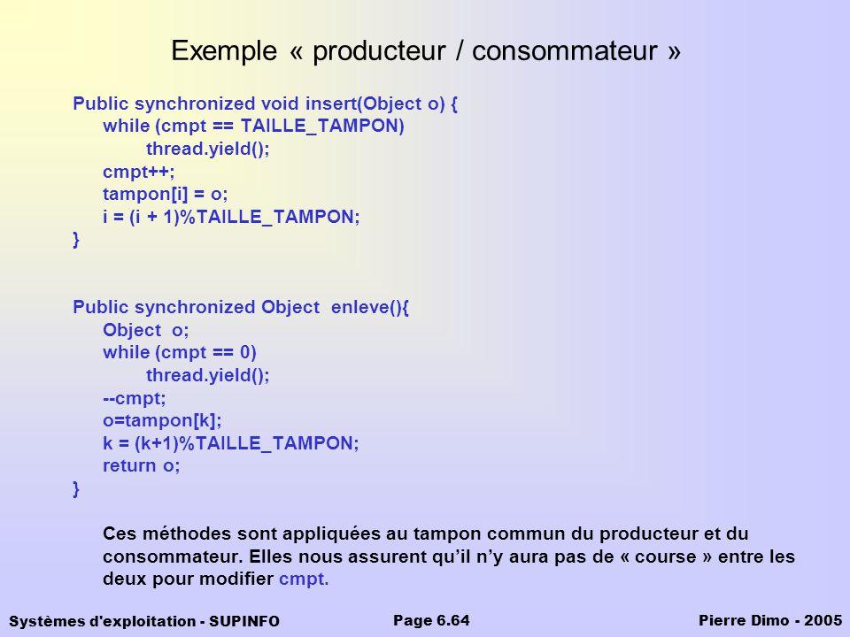 Exemple « producteur / consommateur »