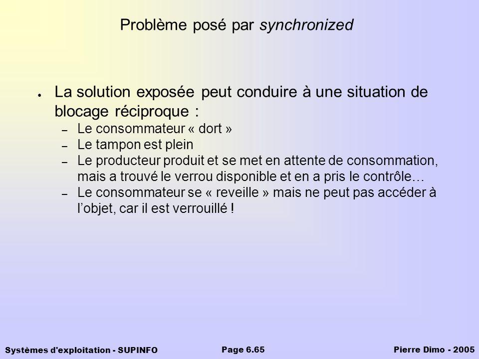 Problème posé par synchronized