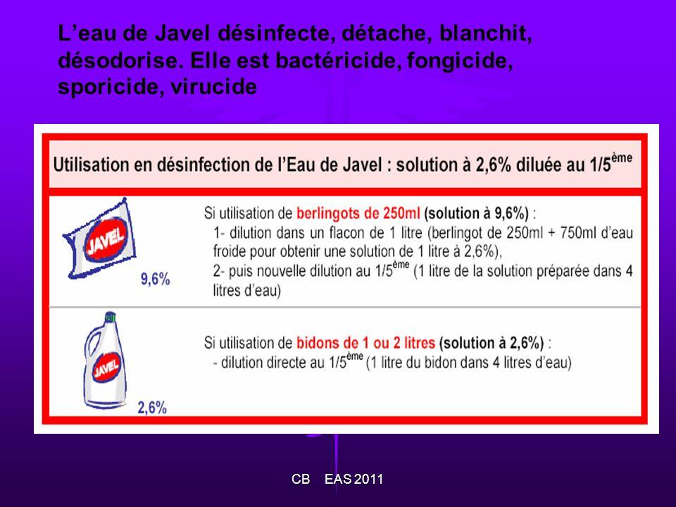 L'eau de Javel désinfecte, détache, blanchit, désodorise