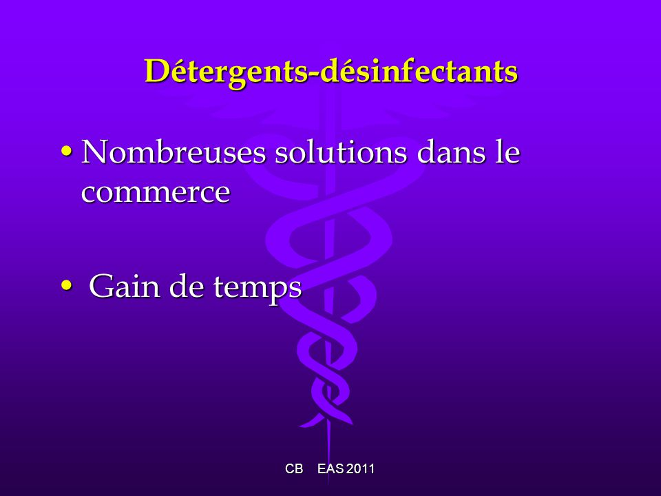 Détergents-désinfectants