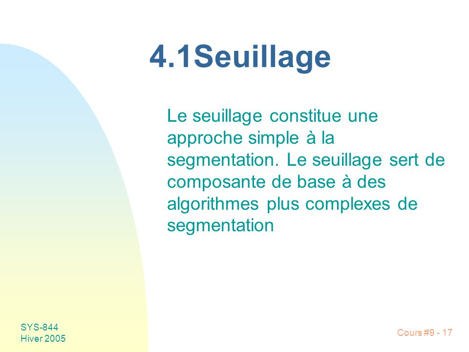 4.1Seuillage