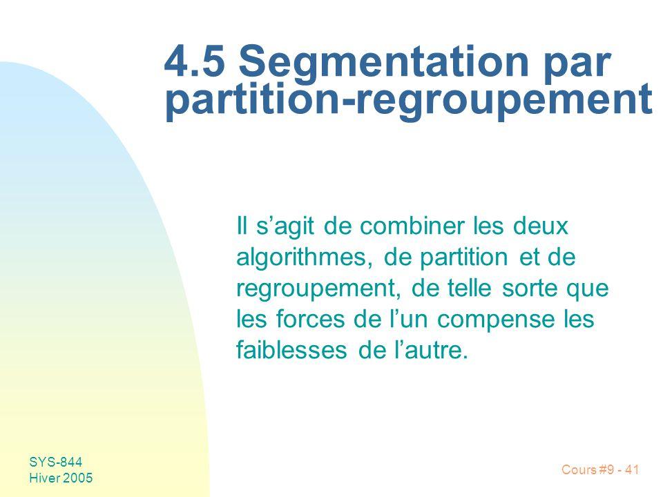 4.5 Segmentation par partition-regroupement