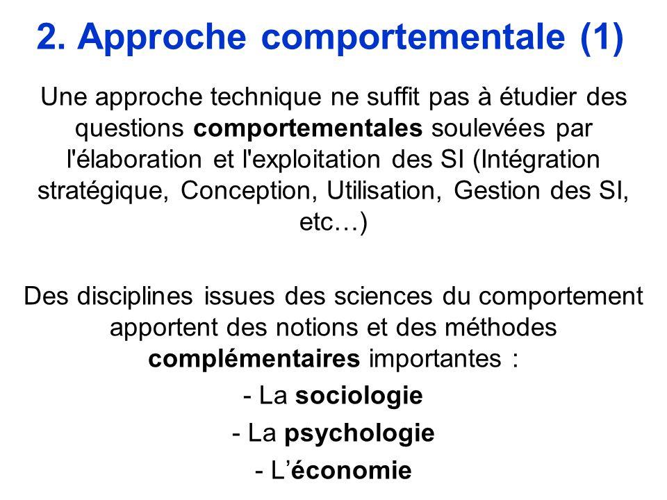 2. Approche comportementale (1)