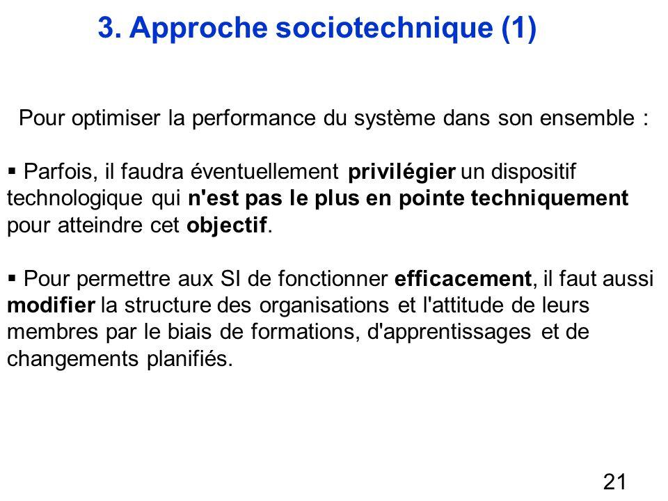 3. Approche sociotechnique (1)