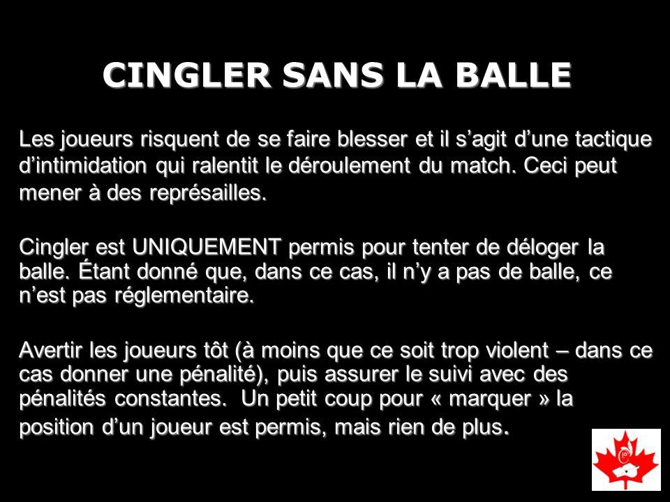 CINGLER SANS LA BALLE