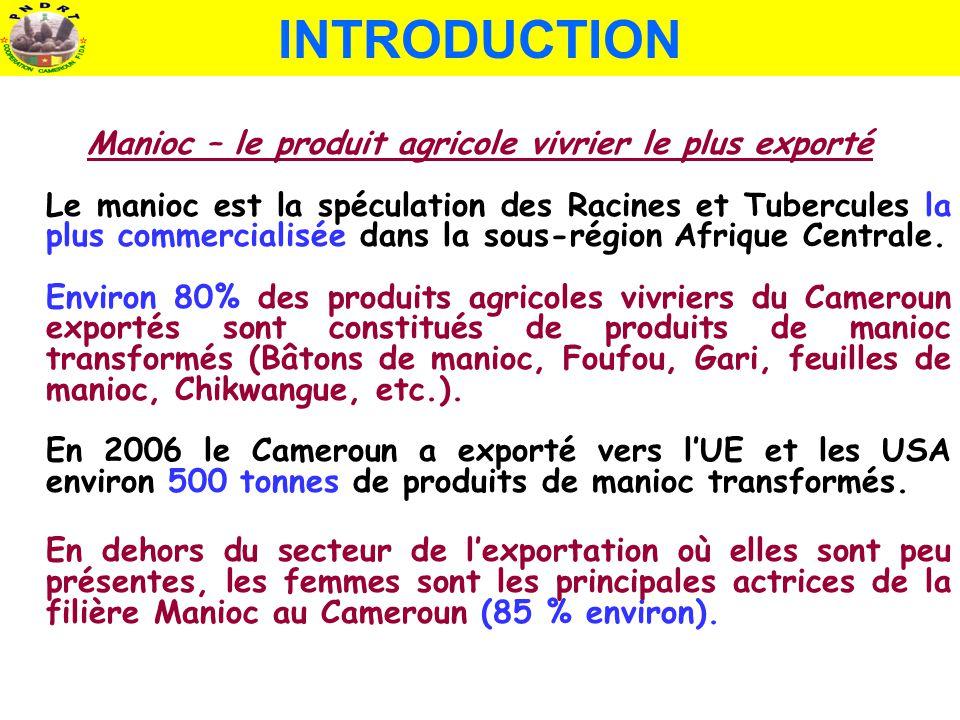 Manioc – le produit agricole vivrier le plus exporté