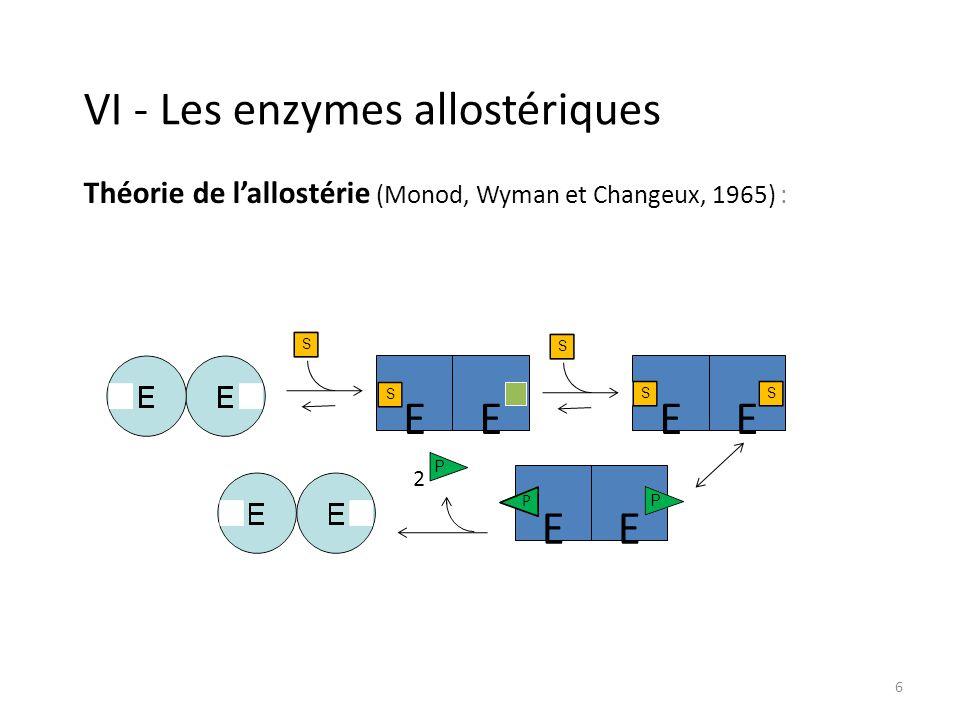 VI - Les enzymes allostériques