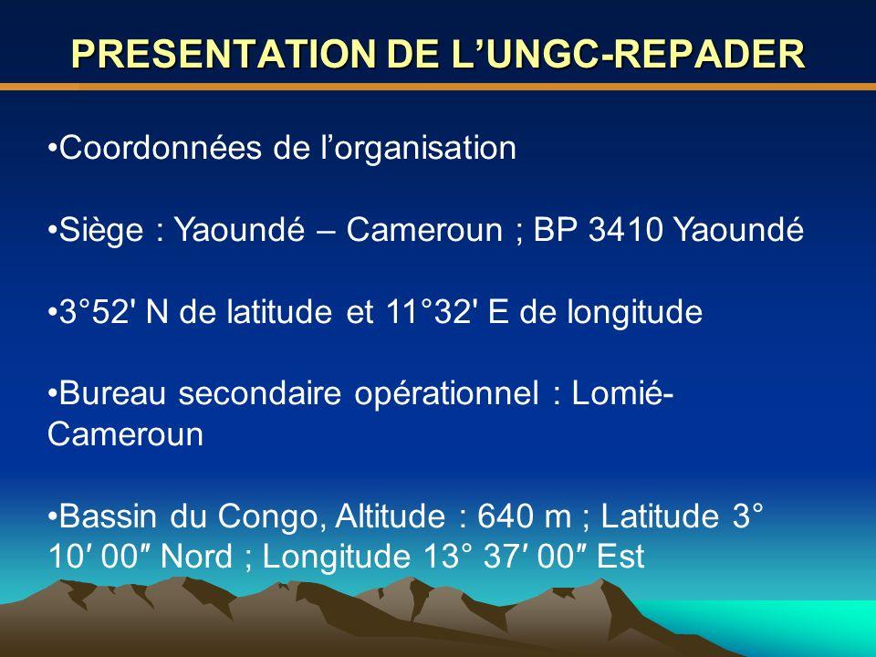 PRESENTATION DE L'UNGC-REPADER