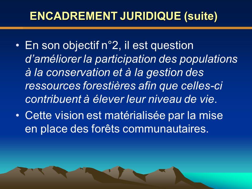 ENCADREMENT JURIDIQUE (suite)