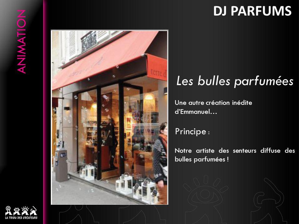 DJ PARFUMS Les bulles parfumées Principe :