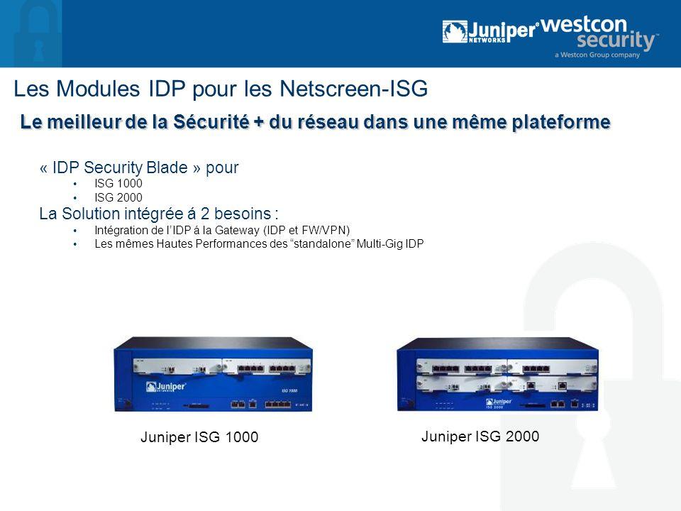 Les Modules IDP pour les Netscreen-ISG