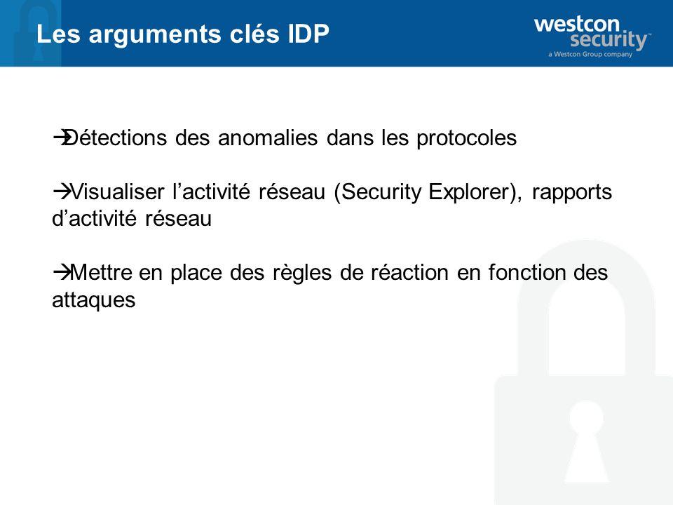 Les arguments clés IDP Détections des anomalies dans les protocoles