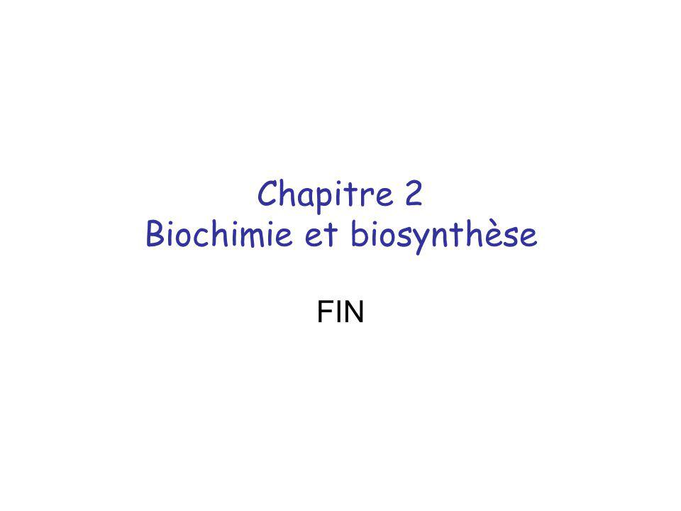 Chapitre 2 Biochimie et biosynthèse
