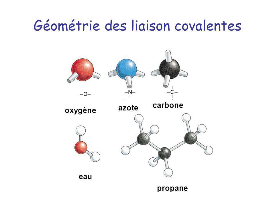 Géométrie des liaison covalentes