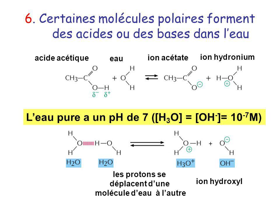 molécule d'eau à l'autre